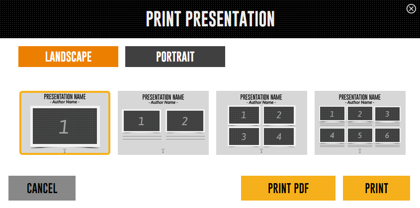 how to print a presentation emaze support center