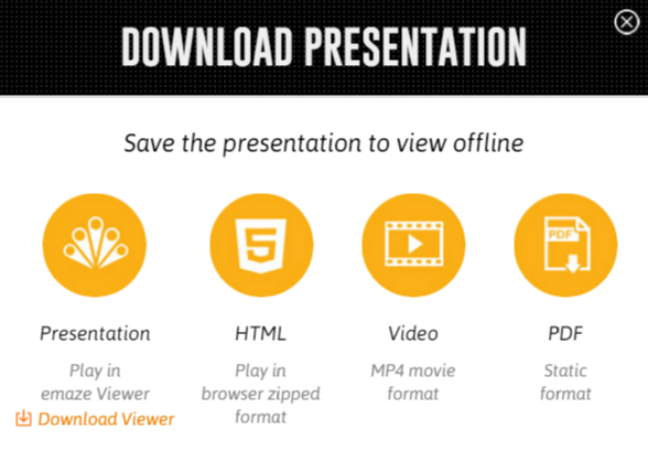 download your presentation in an html format emaze support center