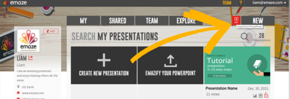 import a presentation from powerpoint emaze support center