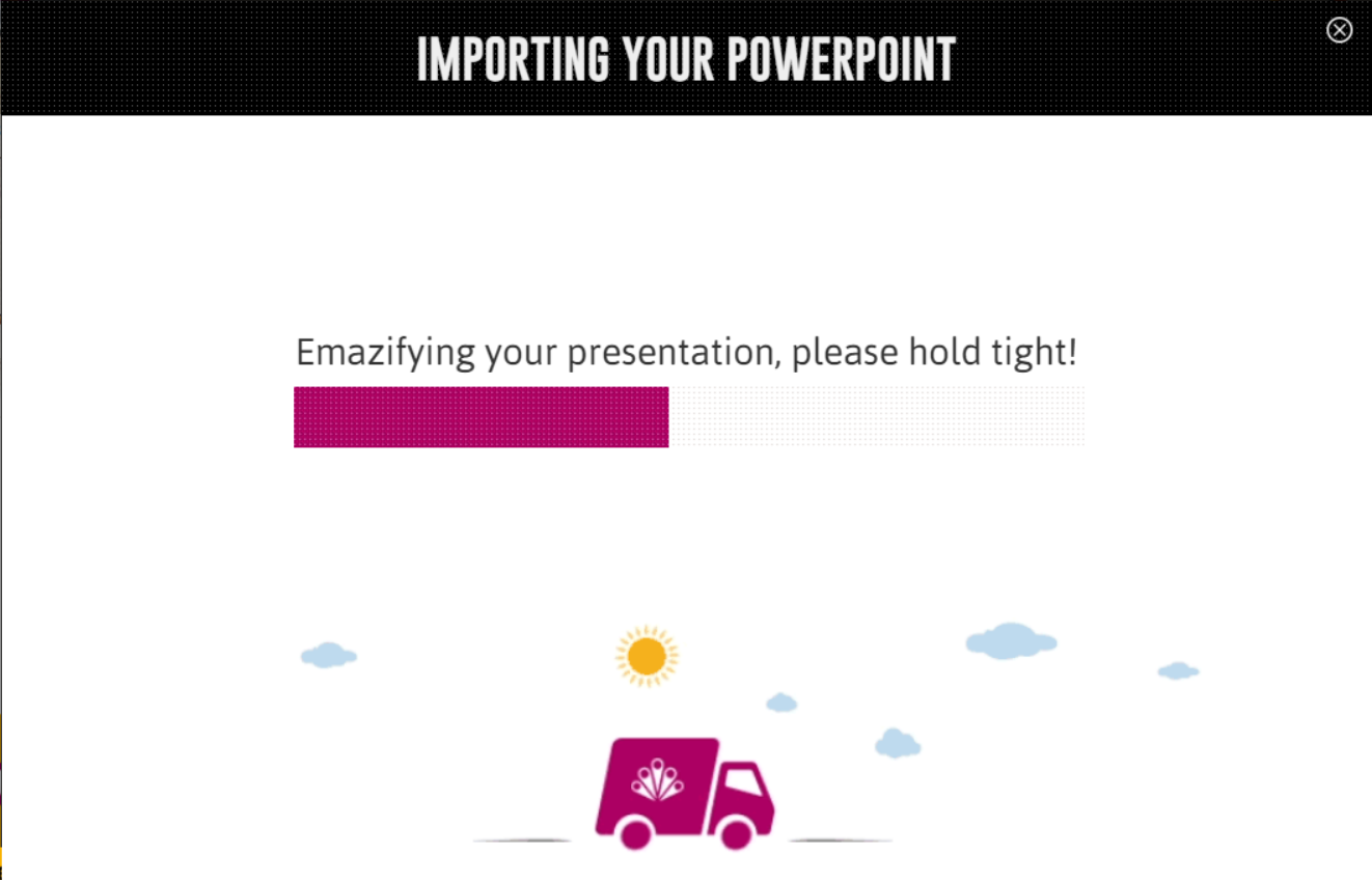 Import a presentation from powerpoint emaze support center an import your powerpoint slides window will open once the slides have imported into the template you can choose to keep your original powerpoint design toneelgroepblik Gallery